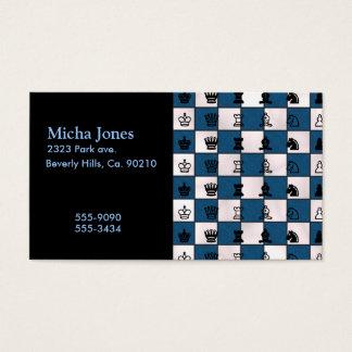 Cartão De Visitas Azul & o conselho & partes marmoreados branco de