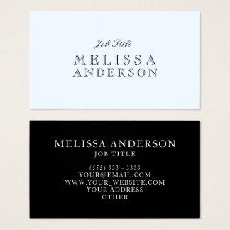 Cartão De Visitas Azul profissional de Alice da pia batismal de