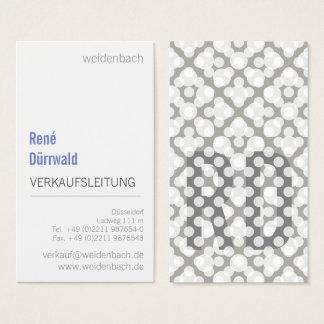 Cartão De Visitas Azul tipográfico do branco cinzento