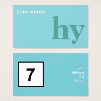Cartão De Visitas Azul verde natural do design inicial simples