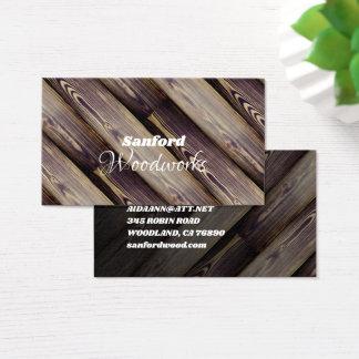 Cartão De Visitas Azulejo de madeira angular
