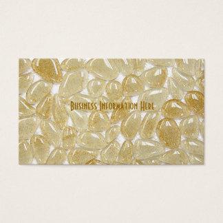 Cartão De Visitas azulejos de vidro bege