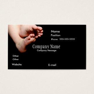 Cartão De Visitas BabiesFeetInBlack-4-zazzle, nome da empresa,