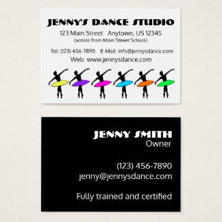 Cartão De Visitas Bailarina de Pointe do balé do proprietário do