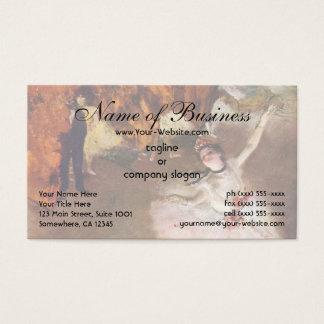 Cartão De Visitas Bailarina de Prima; a estrela por Edgar Degas