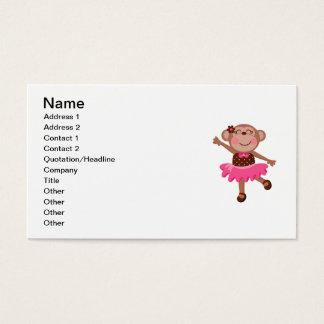 Cartão De Visitas Bailarina do macaco