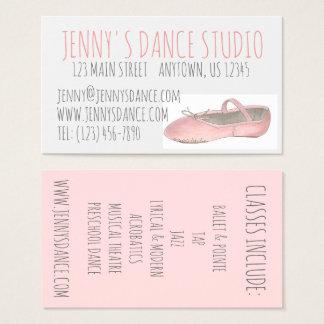 Cartão De Visitas Bailarina dos calçados de balé do rosa do