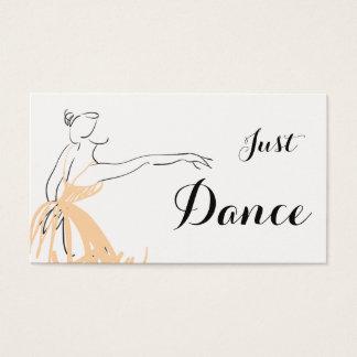 Cartão De Visitas Bailarina no pêssego macio