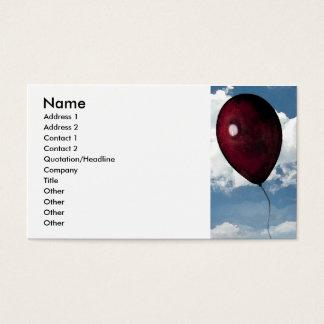 Cartão De Visitas Balão vermelho