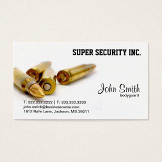 Cartão De Visitas Balas da escolta da segurança