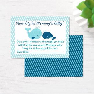Cartão De Visitas Baleia náutica como grande é o jogo da barriga da