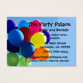 Cartão De Visitas Balões coloridos
