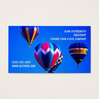 Cartão De Visitas Balões de ar quente