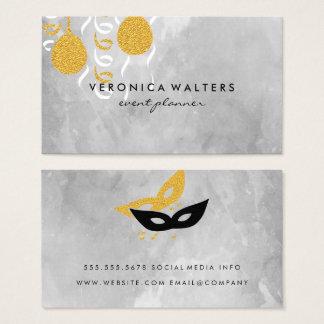 Cartão De Visitas Balões/máscaras do partido
