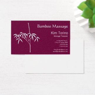 Cartão De Visitas Bambu do japonês do terapeuta da massagem