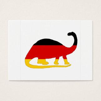 Cartão De Visitas Bandeira alemão - Brontosaurus