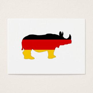 Cartão De Visitas Bandeira alemão - rinoceronte