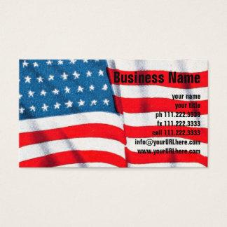 Cartão De Visitas Bandeira americana patriótica do vintage, quarto