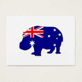 Cartão De Visitas Bandeira australiana - Hippopotamus