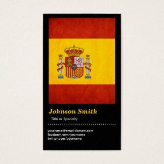 Cartão De Visitas Bandeira da espanha do Grunge do vintage - Bandera