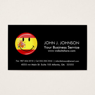 Cartão De Visitas Bandeira de sorriso da espanha