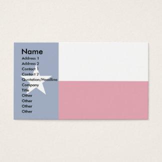 Cartão De Visitas Bandeira de Texas