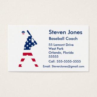 Cartão De Visitas Bandeira do americano do basebol de América