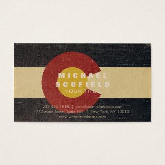 Cartão De Visitas Bandeira do estado de Colorado do vintage