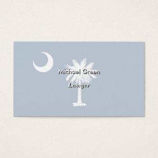 Cartão De Visitas Bandeira do estado de South Carolina