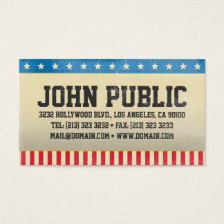 Cartão De Visitas Bandeira dos Estados Unidos de América do vintage