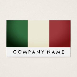 Cartão De Visitas Bandeira italiana, Italia