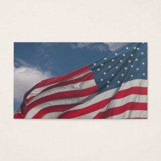 Cartão De Visitas Bandeira nas nuvens