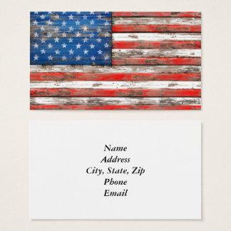 Cartão De Visitas Bandeira referente à cultura norte-americana