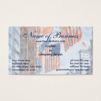 Cartão De Visitas Bandeiras, Quinta Avenida por Frederick Childe