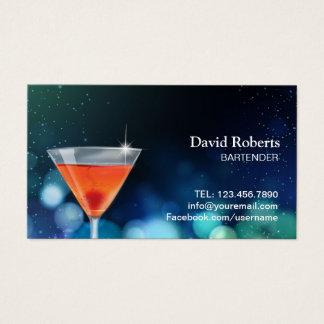 Cartão De Visitas Bar do cocktail do clube nocturno do barman