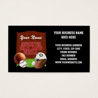 Cartão De Visitas Bar e grill engraçado personalizado dos esportes