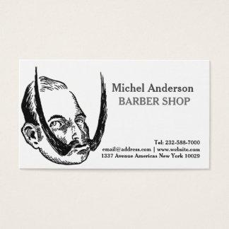Cartão De Visitas Barbeiro engraçado do estilo do vintage