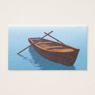 Cartão De Visitas Barco de madeira - 3D rendem