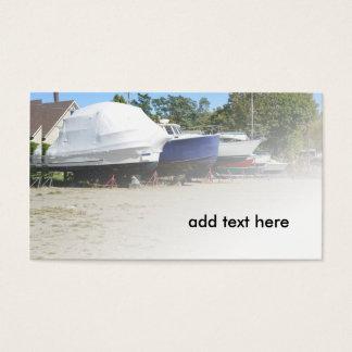 Cartão De Visitas barcos na doca seca