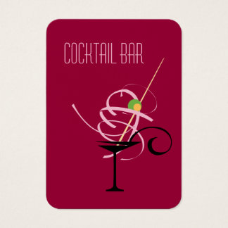 Cartão De Visitas Barman do clube nocturno do bar do cocktail