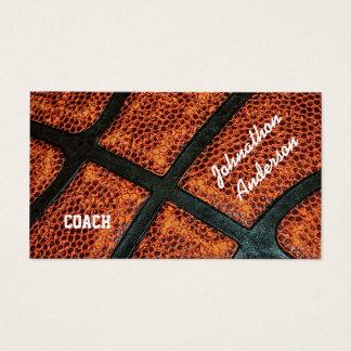 Cartão De Visitas Basquetebol retro velho treinador autografado