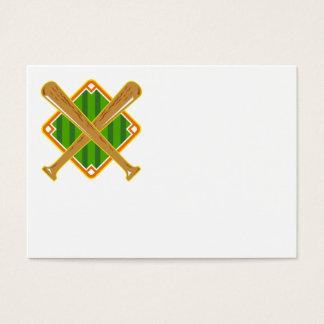 Cartão De Visitas Bastão cruzado do diamante de basebol retro
