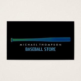 Cartão De Visitas Bastão de beisebol do efeito de Solarize, basebol
