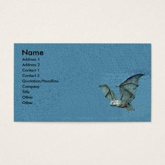 Cartão De Visitas Bastão do azul do vôo 3d