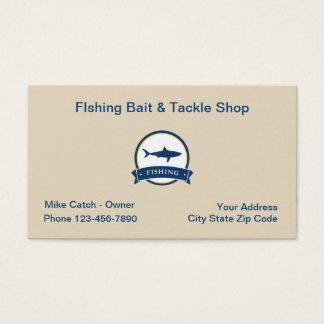 Cartão De Visitas Bastão e equipamento da pesca