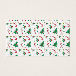 Cartão De Visitas Bastões de doces, visco, e árvores de Natal