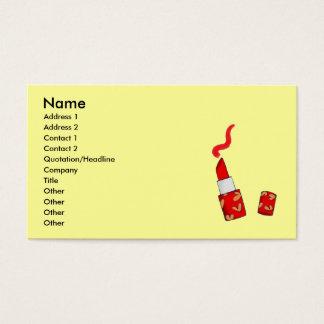 Cartão De Visitas Batom vermelho