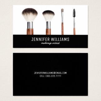 Cartão De Visitas Beautician elegante do maquilhador