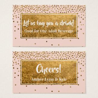 Cartão De Visitas Beba bilhetes com confetes da folha de ouro do