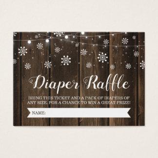 Cartão De Visitas Bebê rústico é bilhete exterior frio do Raffle da